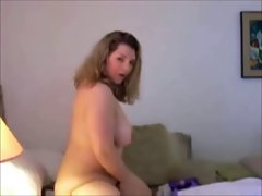My Fat Chubby Ex GF sent me this video of her masturbating