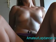 Czech redhead is paid to give him a lapdance
