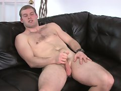 Dude strokes his own cock for pleasure in hd