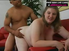 Big tit bbw charly gets titty fucked and blowjob before pussy pounded
