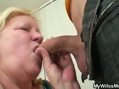 Young dude gets seduced for hot sex by wife's mom