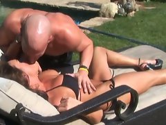 Hot mom gets nice cock from poolboy