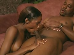 Stunning ebony babes and her lover