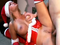 Mrs. clause fooling around while santa is away