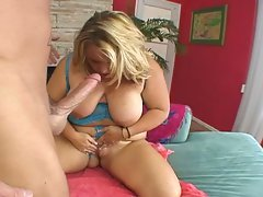 Big tits blonde bbw temptress hardcore cock riding