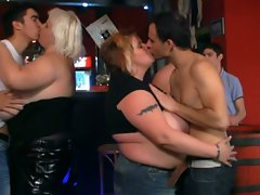 Fat ladies have fun at the fatty pub