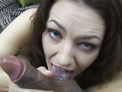Sarah shevon gives pov blowjob