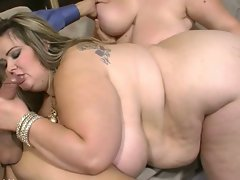 Monster tits bbw hotties mandy majestic and lisa canon cock sharing