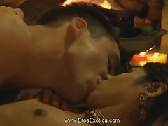 Erotic kama sutra man and babe make love