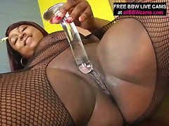 Black bbw solo masturbation session