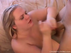 Beautiful big tits blonde bbw loves to fuck