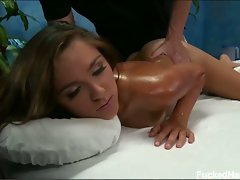Young brunette zoey foxx gets massaged and fucked