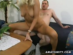 Blonde girlfriend gets toyed, fingered, and fucked