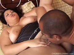 Big busty latina gets her big tits manhandled
