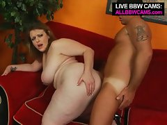 Hot brunette big tit bbw vanessa sucks and gets fucked doggy style