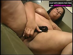 Asian bbw shelsea fucks herself with panties