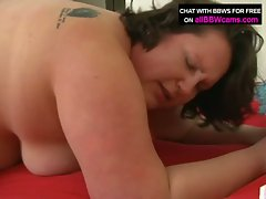Bbw loves cock slamming for this brunette slut