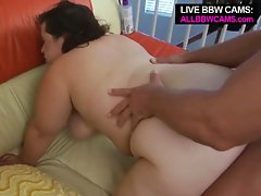 Bbw blows latino with big dick gets fat pussy fuck