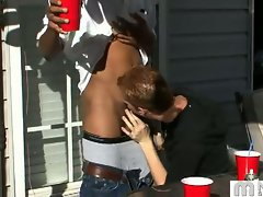 Gay drinking party outdoors turns nasty