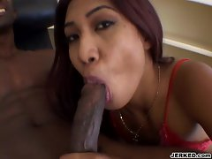 Lyla Lei is a hot Asian babe who wants a big dick in her asshole