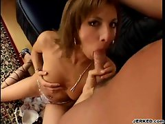 A big hard dick gets sucked and fucked by sexy MILF Janet Alfano