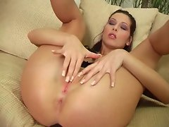 Sexy Evelyn Lory gets it on with her wet swollen pussy hole