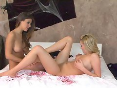 Andie Valentino loves to massage beautiful Carli's pussy til she cums