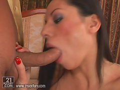 Vanessa Smokes sucks a giant dick