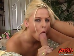 Suck slut Bobbi Eden is nasty sucks a fat cock with her pretty lips and mouth