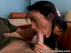 Raven locked Deena Daniels has a mouth horny for a big dick