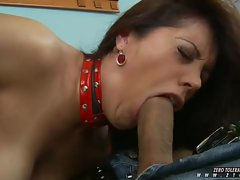Appealing bombshell Francesca Le screwed her pussy on a long tight dick