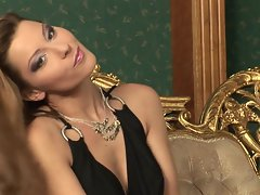 Horny whore Cindy Hope is so hot as she plays with her nipples and clit