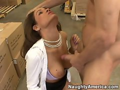Dark-haired vixen Isis Taylor licks jizz after a raucous ram session