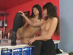 Electra Angels enjoys some action with her Lesbian girlfriend