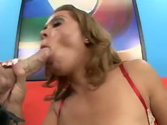 Sienna West gobbles down a big dick