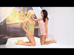 Babes Jessica Lynn and Kyla Carrera in hot lesbian action