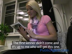 PublicAgent HD Cute Blonde wins more than she hoped for