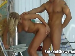 Blonde loves getting done from behind