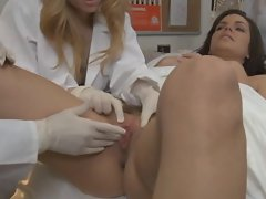Bobbi Starr a patient gets a collective  banging in her cunt
