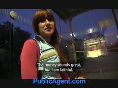 PublicAgent Lucy Gets my cock in her behind the station