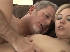 Nicole Ray giving in to an old guy and being fucked hard by him