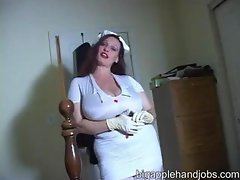 Nurse Milf With Huge Tits Give Handjob