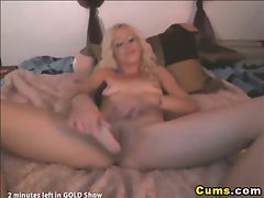 Blonde Babe Sucks and Fucks her Dildo HD