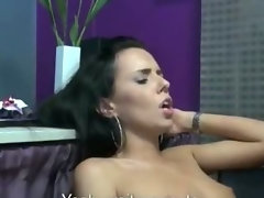 Store cashier chick gets intensely fucked at work for some cash