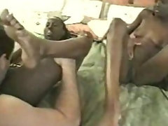 Fucking two ebony twins