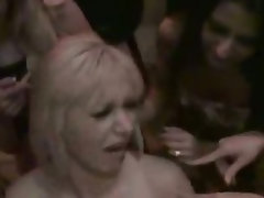 Girls tie up stripper and use his dick