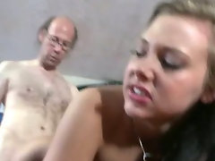 Horny Brunette Gets Fucked By Older Neighbour