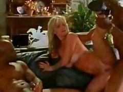 Janine Lindemulder versus two black guys