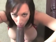 Mature brunette gets interracial big dick
