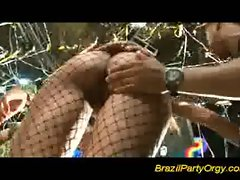 Brazil party orgy sucking and sharing big latina cocks